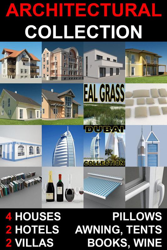 3d model grass garden 2