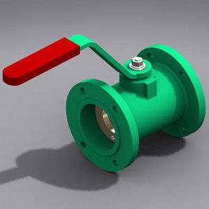 3ds max valve monoblock ball modeled