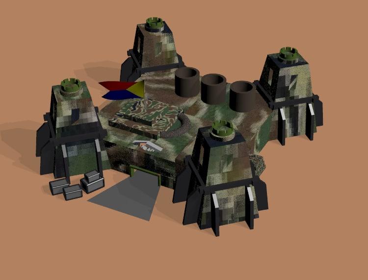 free barracks 3d model