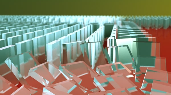3d dominos animation