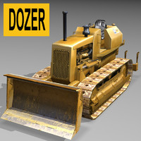 3dsmax dozer excavator