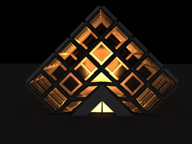 3ds max exhibition building