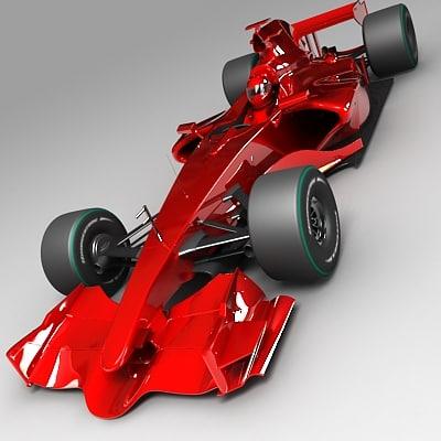 f1 race car 3d max