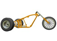 3d 3ds motorcycle trike frame