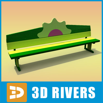 playground friendship bench 3d max