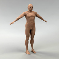 body male 3d 3ds