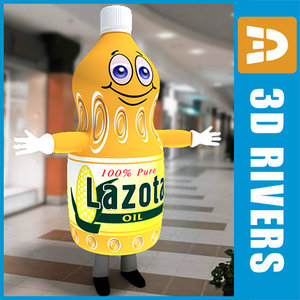 3d promotional oil bottle costume