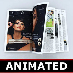newspaper new 3d model