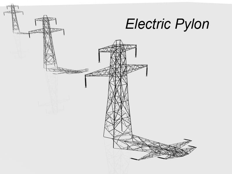 electric pylon 3d model