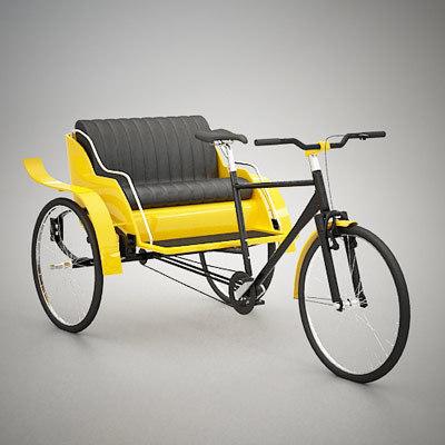 3ds rickshaw bicycle