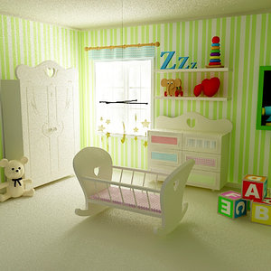 baby room babyroom 3d model
