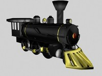 19th century steam locomotive 3d model
