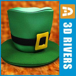 green patrick hat saint 3d model