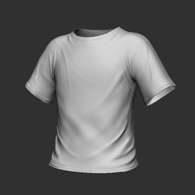 3d shirt tee model