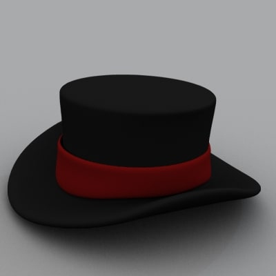 3d lwo magician hat