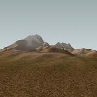 3d model snowy hills