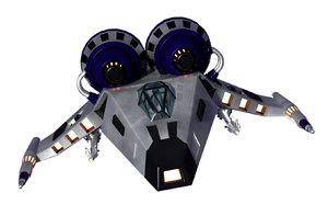 3d lwo space ship