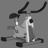 spinning bike 3d model
