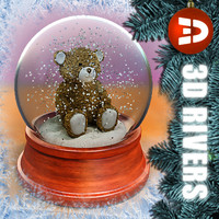 Teddy bear snow globe by 3DRivers
