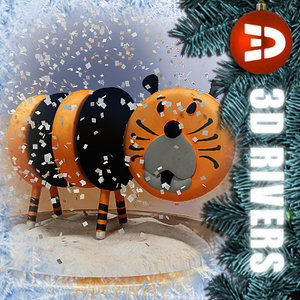chinese snow globe toy 3d 3ds
