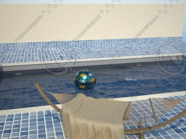 swimming pool maxwell render 3d max