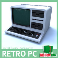 3d radioshack retro pc model