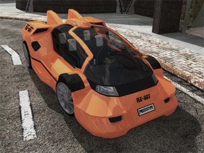rx007 concept car 3d model
