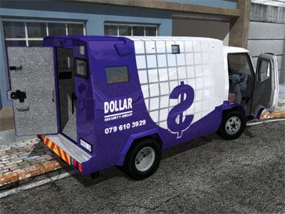 3d security truck