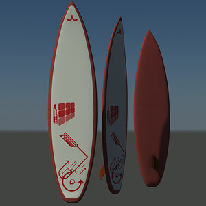 surfer board 3d max