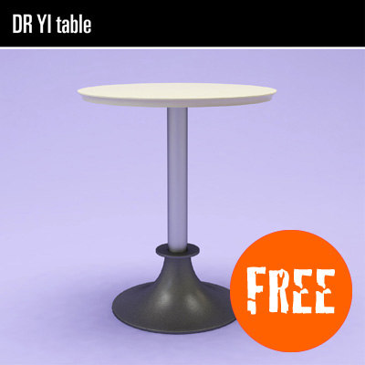 free lord yi table 3d model