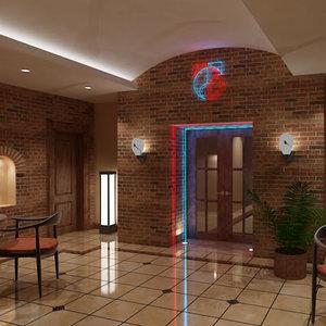 restaurant club 3d model