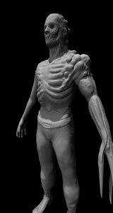 free zombie man 3d model