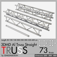 3d model of aluminum truss straight