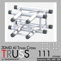 3d aluminum truss cross model