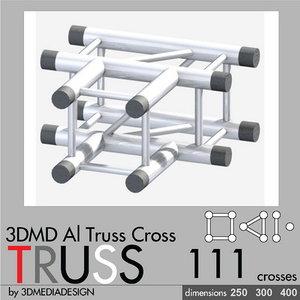 3d aluminum truss cross model