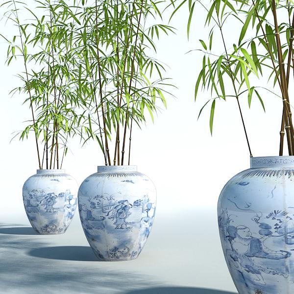3d bamboo plant model