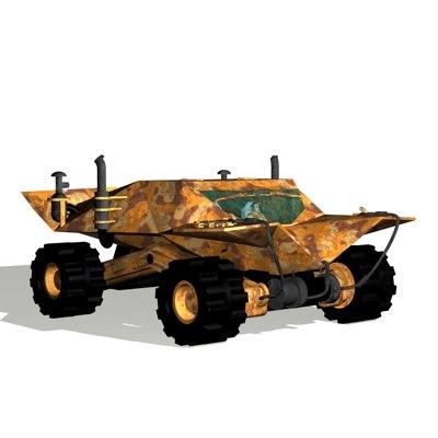 military vehicle big 3d model