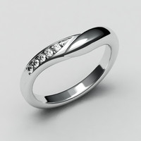 White gold wedding band-4