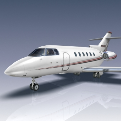 3d model of hawker 800xp