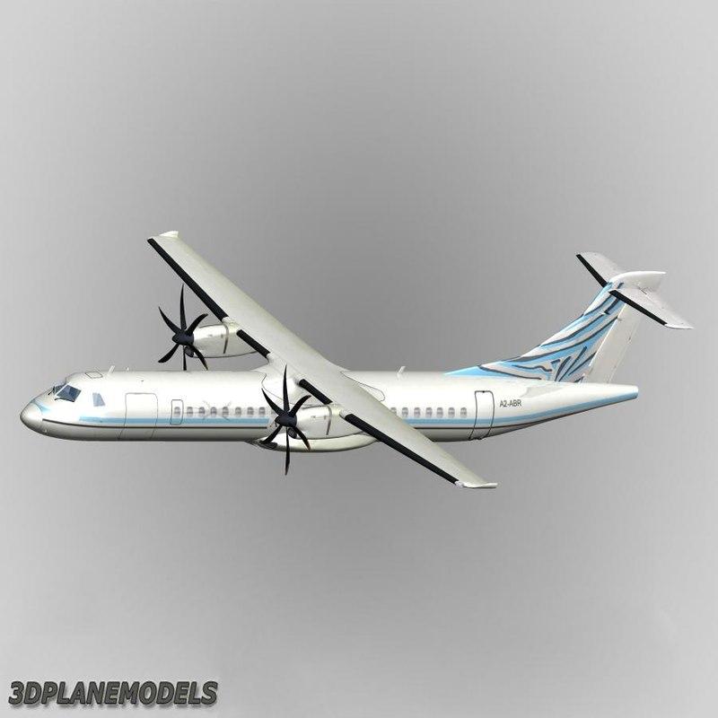 atr 72-500 air botswana 3d max