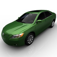 toyota camry xle 3d model