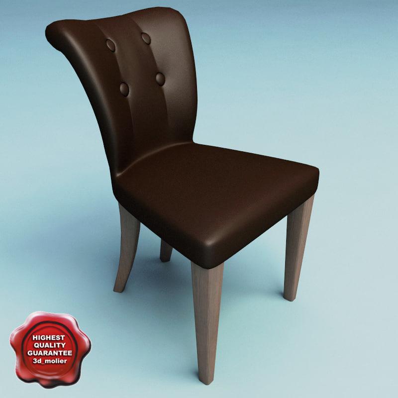 3d model of chair classic v2