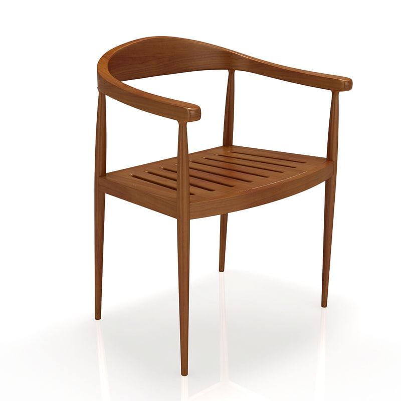 3d chair teak house dakkar model