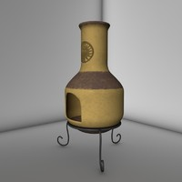 3d chimenea chiminea model