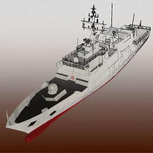 3d nave comandante navy ship model