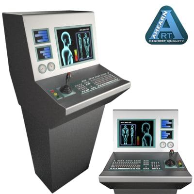 control console 3d c4d