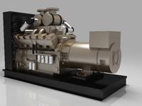 3d diesel generator model