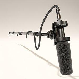 3d boom mic model