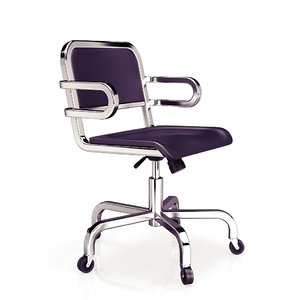 3d aluminum swivel armchair emeco