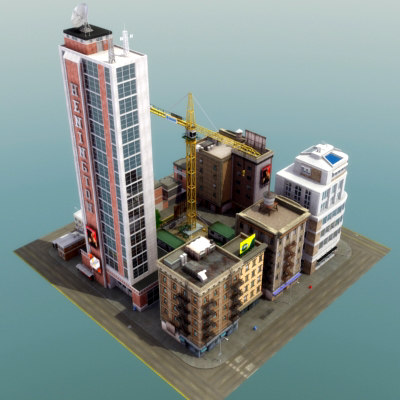 3ds max definition city block cityscapes